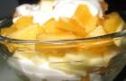 Заправка из йогурта с яблоком