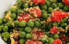 Зеленый горошек с мятой и грейпфрутом