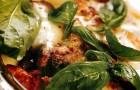 Лазанья с курицей, грибами и козьим сыром