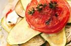 Шарлотка из овощей с куриными ломтиками