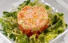 Салат с крабами и трюфельным маслом