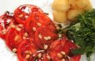 Салат с мини-моцареллой в темпуре