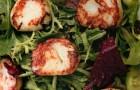Салат с морскими гребешками и медово-горчичной заправкой