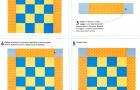 Угловые квадраты на прямых бордюрах