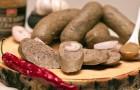 Ливерная колбаса с изюмом и миндалем
