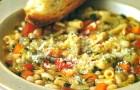 Минестроне с капустой и макаронами тубетти