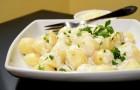 Ньокки с четырьмя видами сыра