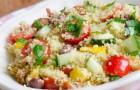 Салат из кус-куса с помидорами черри