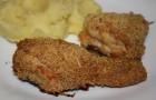 Жареный цыпленок с хрустящей корочкой