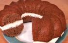 Кекс с шоколадной прослойкой