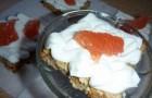 Пирожные с розовым грейпфрутом
