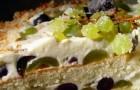 Йогуртовый пирог с виноградом