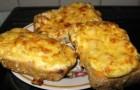 Бутерброды горячие с мясным фаршем и грибами
