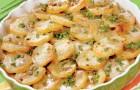 Грибы, тушенные с картофелем и горохом