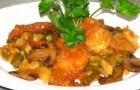 Грибы, тушенные с овощами