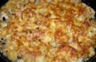 Грибы, запеченные под белым соусом