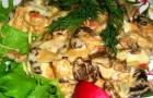 Овощи со свежими сморчками
