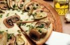 Пицца с грибами и печенью