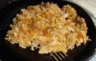 Рис, тушенный с грибами и сыром