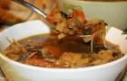 Солянка грибная со свежей капустой