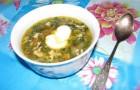 Суп из свежих грибов с крапивой