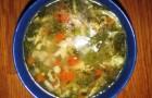 Суп из вешенок с лапшой