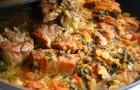 Жаркое рыбное с грибами