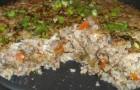 Запеканка из грибов и крупы