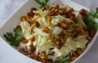 Грибной салат по-белорусски