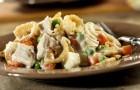 Грибной салат с цыпленком