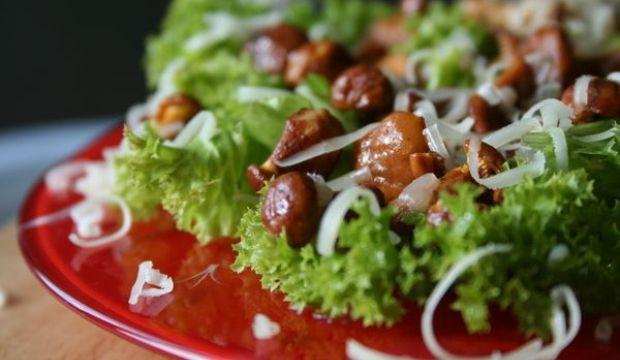Салат из грибов с хреном