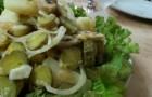 Салат из грибов с лимонным соком