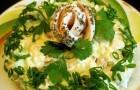Салат из маринованных грибов с сельдереем