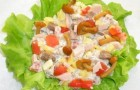 Салат из свежих грибов и овощей по-китайски