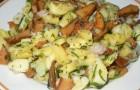 Салат из свежих рыжиков