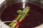 Борщ из печеной свеклы с вином