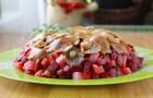 Винегрет из соленых груздей, рыжиков и белых грибов