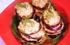 Баклажаны с ореховой подливкой в пароварке