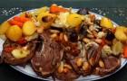 Баранина, запеченная с овощами в аэрогриле