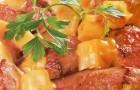 Говядина с айвой и тыквой в скороварке