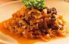 Говядина с капустой в сметанном соусе в арогриле
