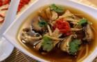 Грибной суп по-китайски в скороварке