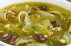 Грибной суп с макаронами в скороварке
