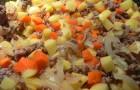 Картофель с луком, тушенные в аэрогриле
