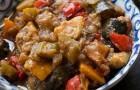Картофель, тушенный с баклажанами в аэрогриле