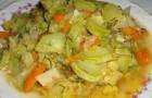 Картофель, тушенный с кабачками в аэрогриле