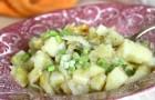 Картофель, тушенный с цветной капустой в аэрогриле