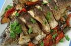 Красноперка с овощами в скороварке