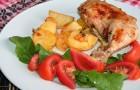 Куриные окорочка, запеченные с овощами в аэрогриле