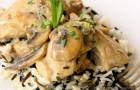 Курица с грибами в пароварке
